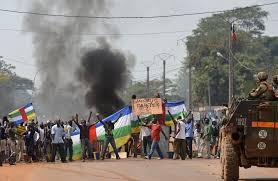 Marcia contro il disarmo nei distretti 3 ° e 5 ° di Bangui