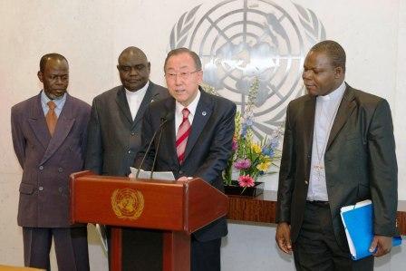 Incontro tra Ban Ki-moon ed i capi religiosi del centrafica a New York
