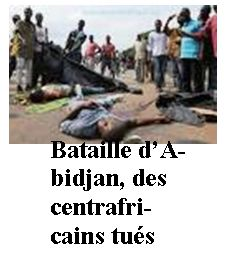 6 centrafricains tués en Cote d'Ivoire