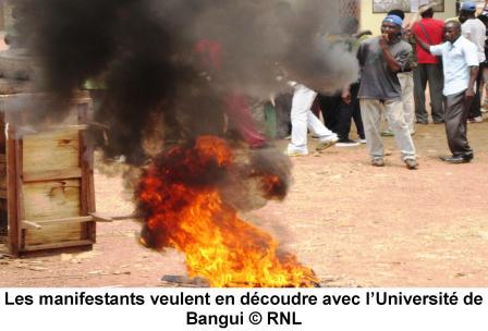 Grogne à l'Université de Bangui, révision des textes pour accès en maitrise