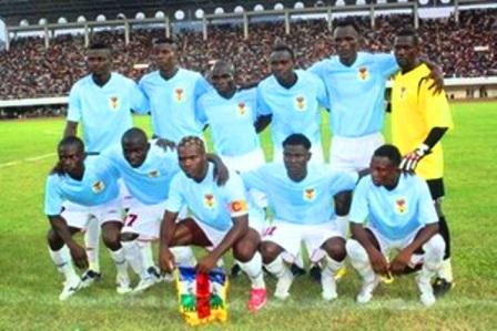 Départ des Fauves de Bas-Oubangui pour la coupe CEMAC à Brazzaville